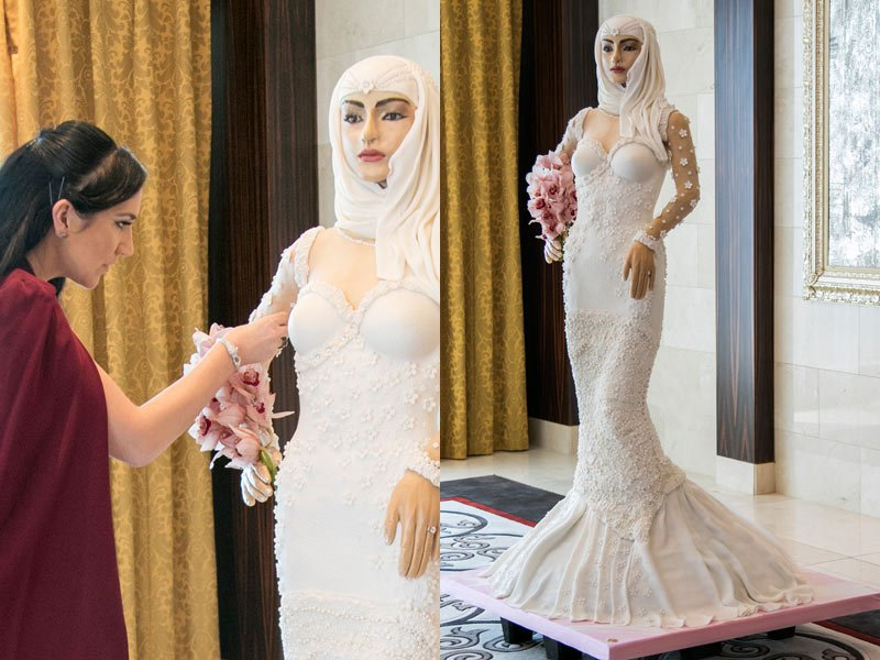 Baker Creates A Million-Dollar Wedding Cake For Dubai ...