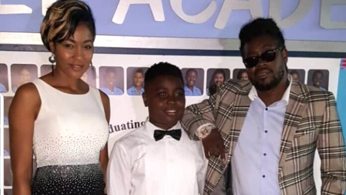 D'Angel and Beenie Man with son Marco Dean Davis